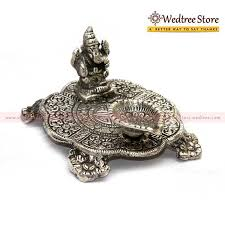 unique housewarming white metal ganesh chowki with diya w0144 return gift at rs 13400 on gifts for housewarming function