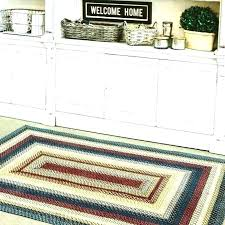 black and white woven wool rug oval traditional area x braided rugs for country
