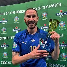 "UEFA EURO 2020 on Instagram: ""🎯 Great distribution throughout 💪 Strong  defensive display ⚽️ Goalscorer 🇮🇹 Italy hero Leonardo Bonucci = Star of  the Match! 🥇 @heineken"