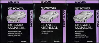 2005 toyota avalon wiring diagram manual original 2005 toyota avalon repair shop manual 3 volume set original 299 00