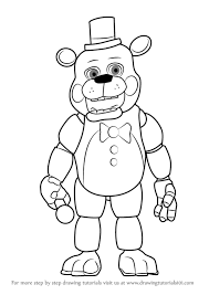 how to draw toy freddy fazbear from five nights at freddy s