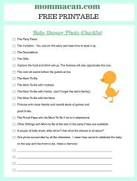 Baby Supplies Checklist Baby Shower Photo Checklist Momma Can Homemade Christmas