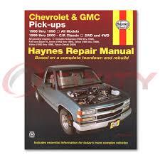 Chevy C1500 Haynes Repair Manual Cheyenne 454 SS Base Scottsdale ...