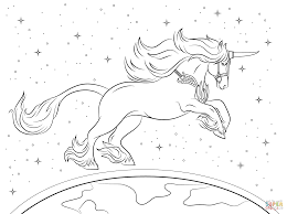 Cartoon Unicorn Coloring Pages For Kids Printable Coloring Page