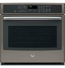 electric self cleaning single wall oven with true convection in slate