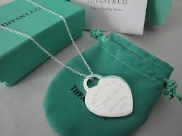 tiffany big heart necklace image of