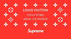 louis vuittton x supreme pop up s in los angeleiami louis vuitton