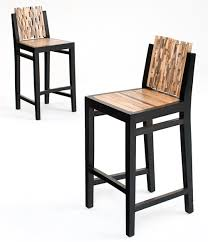 chic modern bar stools. Exellent Chic Bar Stools Natural Wood Furniture With Block Back Throughout Chic Modern A