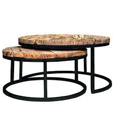 reclaimed wood round coffee table nesting coffee tables round round nesting cocktail circle wood