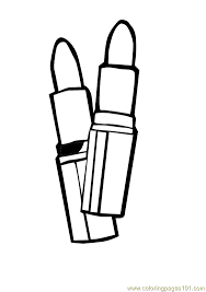 Small Picture Red Lipstick Coloring Page Free Cosmetic Coloring Pages
