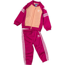 adidas girls. adidas originals baby girls superstar track suit bold pink/pink/white