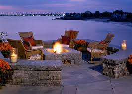 square fire pit Patio Traditional with none beeyoutifullifecom