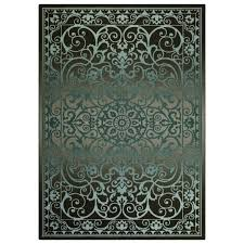 blue grey indoor area rug common 5 x 7 actual 5
