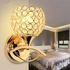 best modern style bedside wall lamp bedroom stair lighting crystal wall lights e27 led bulb silver gold led lamp for bedroom decor under 35 18 dhgate com