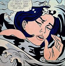 roy lichtenstein biography art and analysis of works the art story drowning girl 1963