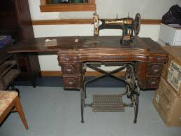White Rotary Sewing Machine Table