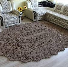 Free Crochet Rug Patterns Mesmerizing Crochet Brown Rug Crochetother Crafts Pinterest Brown Rug