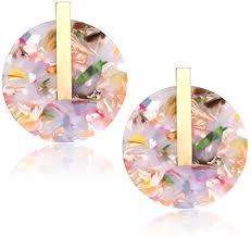 YOUMI Acrylic Earrings for Women Big Statement ... - Amazon.com