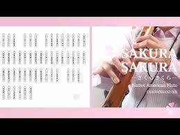 Native American Flute Notes Chart Sakura Sakura Native American Flute Fingering Chart
