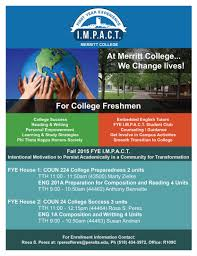 first year experience fye will help students ease into community first year experience fye will help students ease into community college life college college