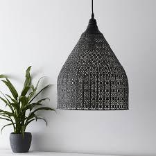 large moroccan metal pendant light