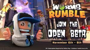Open Beta von Worms Rumble ...