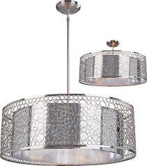 z lite 185 26 saatchi modern chrome 26 wide drum hanging light pertaining to popular home chrome drum chandelier decor