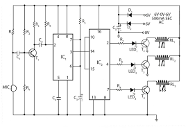 Clap Control Light Switch Circuit Diagram Of Clap Operated Remote Fan Switch Circuit