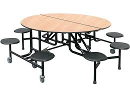 folding outdoor table for 8 easy fold round cafeteria stools tables decorating likable