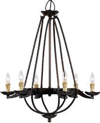 copper bronze iron gothic meval chandelier 6 lights 28 wx33 h
