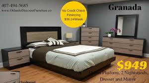 No Credit Check Bedroom Furniture Orlando Affordable Bedroom Sets Cazya Furniture