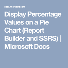 Display Percentage Values On A Pie Chart Report Builder And