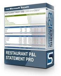 Sample P And L In Excel Restaurant Profit And Loss Statement Template For Excel