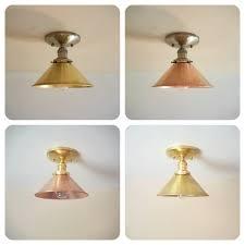 semi flush gold ceiling light antique