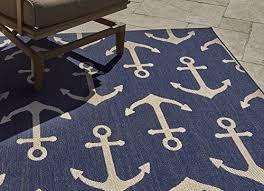 gertmenian 21262 nautical tropical outdoor patio rugs 5x7 standard anchor navy