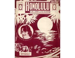 Honolulu - Song as performed by Marjorie Fulton only £9.00