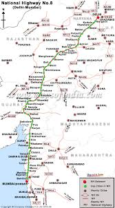 The mumbai nashik expressway connects mumbai, the state capital of maharashtra with nashik, an important industrial town in the state. National Highway 8 Nh 8 Road Map From Delhi To Mumbai