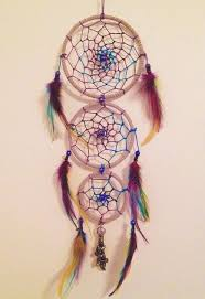 Hobby Lobby Dream Catcher Colorful triple loop dreamcatcher with beads and charms Purple 13