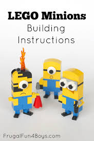Lego House Plans Lego Minions Building Instructions