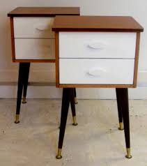Modern Bedroom Side Tables Bedside Table With Drawers Rustic Nightstand With Burl Slab Top