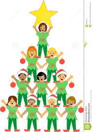 Kids Decorating A Christmas Tree Clip Art  Kids Decorating A Christmas Tree Kids