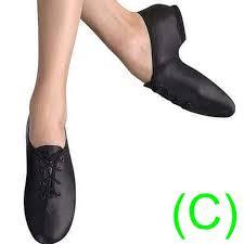 Jazz Dance Shoes Black Leather Split Sole Unisex Pumps Irish Hard Jig Cc