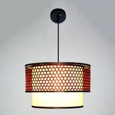 bamboo lamp shade luxury art decorative pendant light lampshade for cafe  led retro decors in lights . bamboo lamp shade ...