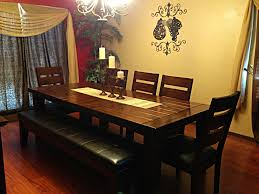 Ashley Furniture Kitchen Chairs Ashley Furniture Dining Table With Bench Candle Holders In The