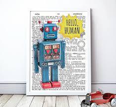 retro robot wall art