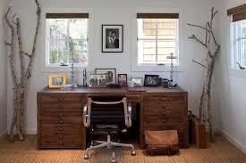 modern walnut desk home office rustic with branches casement windows desk