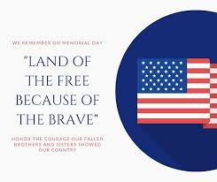 Blue Flag Memorial Day Facebook Post Templates By Canva