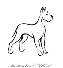 dog drawing. Brilliant Dog Dog Line Drawing Great Dane Can Be Used As Pet Shop Logo Or Emblem Of And Drawing I