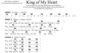 Heart Of Worship Chord Chart King Of My Heart Eb Praise Worship Guitarist