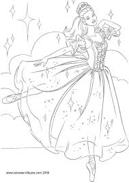 Free Printable Barbie Nutcracker Coloring Pagepicture Only Images